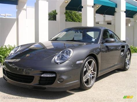 slate grey porsche 2007 slate grey metallic porsche 911 turbo coupe 27850372