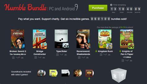 humble bundle android app humble bundle pc et android 9 six jeux au prix de votre choix frandroid