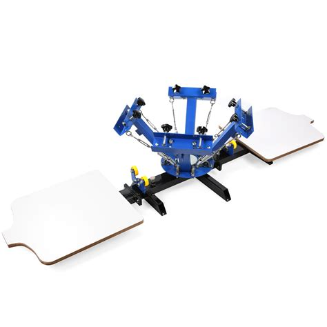 4 color screen printing press 4 color 2 station silk screen printing machine 4 2 press