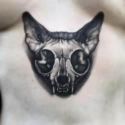cat skull tattoo best tattoo ideas amp designs