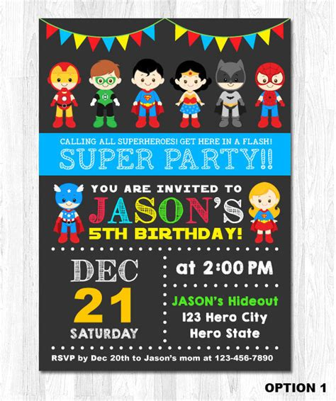 superhero invitation superhero birthday invitation by