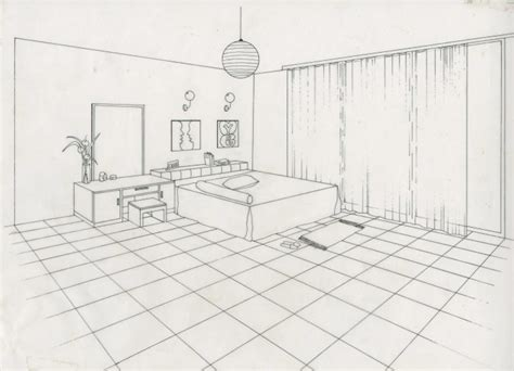 interior perspective of a bedroom two point perspective living room coma frique studio