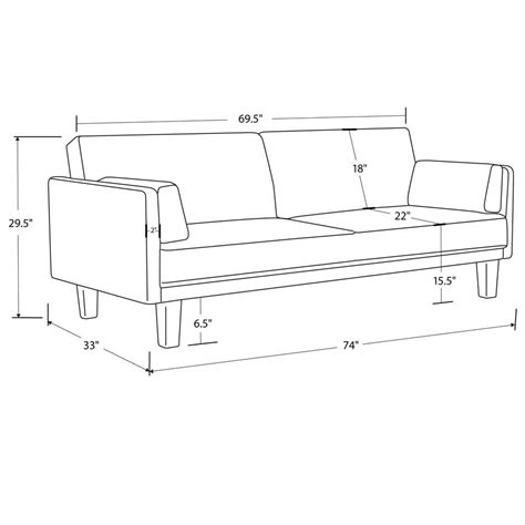 average length of a couch futon sofabed frame and mattress set sleeper convertible