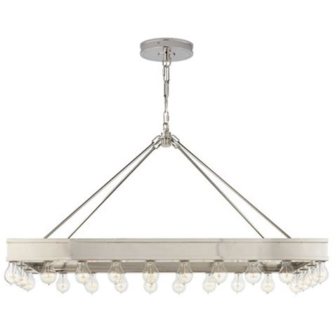 roark rectangular pendant in polished nickel ceiling