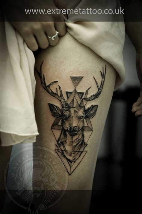 highland tattoo dear stag dot work gabi tomescu