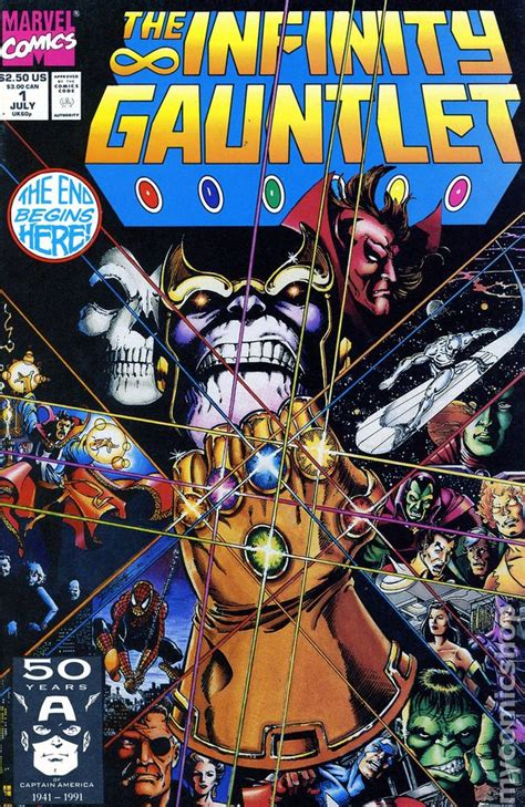 the gauntlet series 1 infinity gauntlet 1991 comic books