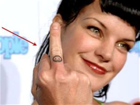 ncis abby tattoos ncis pauley perrette and one word on