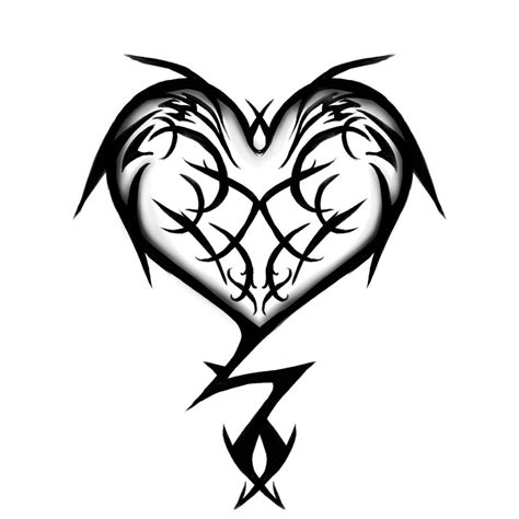 tribal heart tattoos with names tattoos