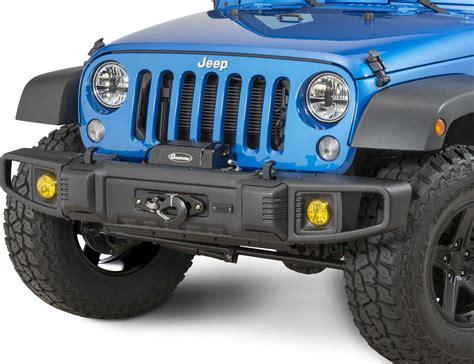 Bumper Jeep Jk Tactik 174 Front Rear Bumper With Led Fog Ls For 07 17