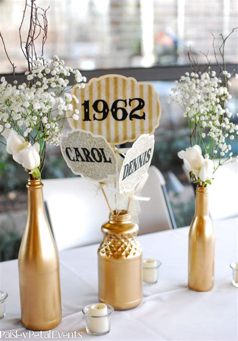 table centerpieces for 50th wedding anniversary 50th wedding anniversary