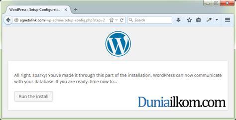 tutorial wordpress di cpanel cara instal wordpress manual di cpanel duniailkom