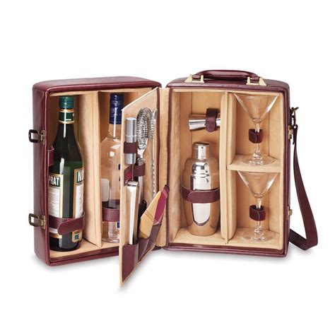 cocktail set picnic two bottle portable cocktail set so that s cool