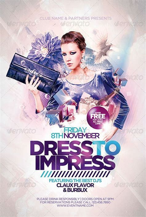 Dress To Impress Club Flyer Template Pictures For Designs Pinterest Flyer Template Club Flyer Templates