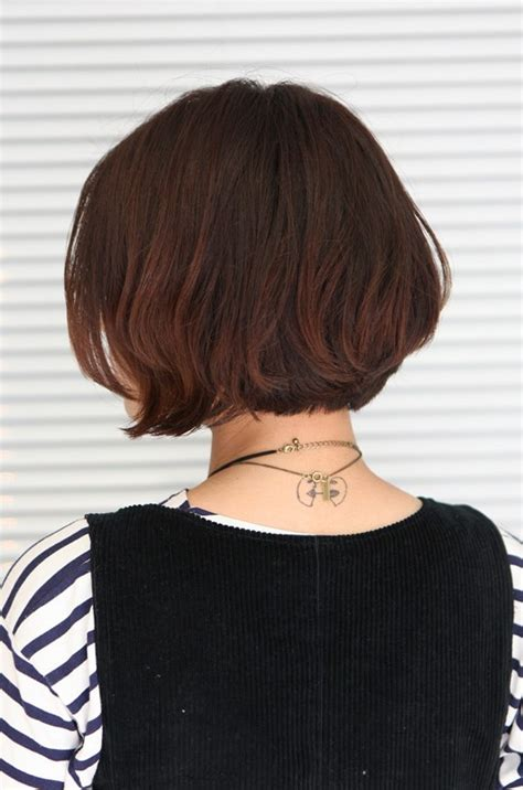 bob hairstyles pictures back view korean hairstyle 2013 pretty center parted bob haircut