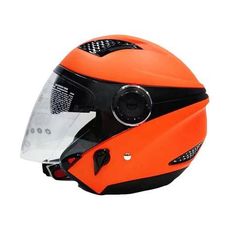Helm Zeus Zs 610 Ungu jual zeus zs 610 solid helm half orange 1505c harga kualitas terjamin blibli