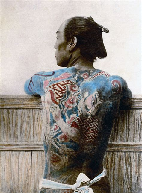 japanese tattoo documentary the last samurai in rare photos from 1800s bored panda