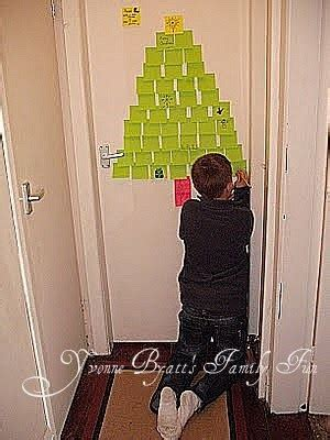 post it christmas tree yvonne byatt s family post it note sticky notes tree