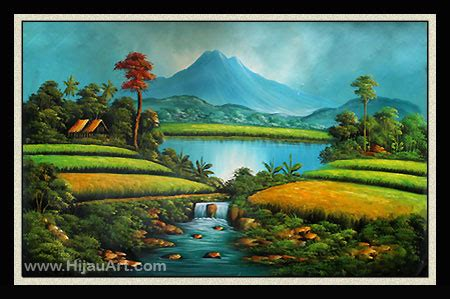 Lukisan Pemandangan Hijau mei 2012 idelukisan