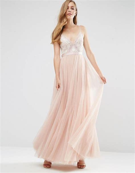 Maxi Dress Dress Motif needle thread needle thread embroidery motif maxi dress