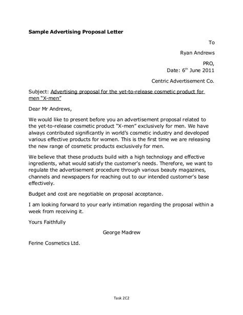 Product Supply Offer Letter Letter Sle
