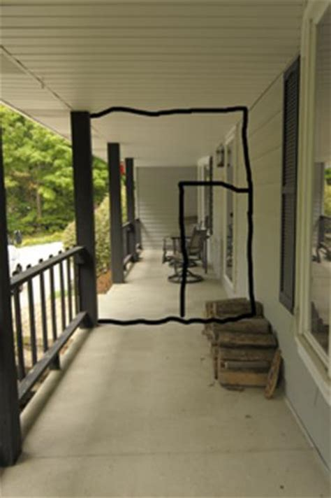 temporary enclosure of porch for cat