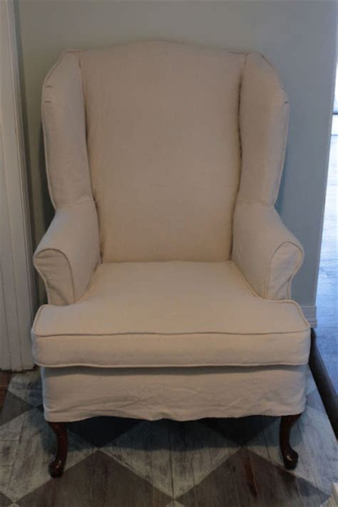 slipcovered wingback chair vanhook co slipcovered wingback chair