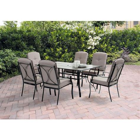 Patio Tables At Walmart Mainstays Sonoma 7 Patio Dining Set Seats 6