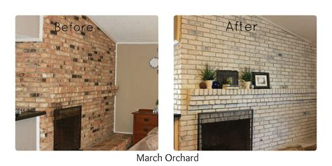 How To Wash Brick Fireplace march orchard how to white wash a brick fireplace