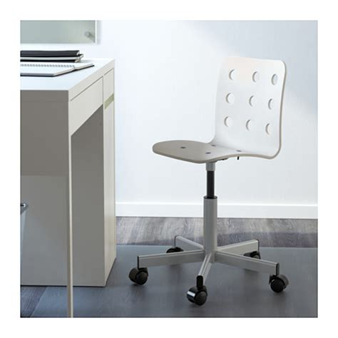 jules junior desk chair white silver colour ikea