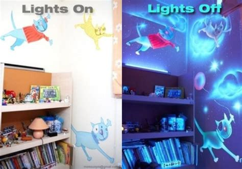 glow in the dark paint for bedroom walls glow in the dark painted bedroom diy for life