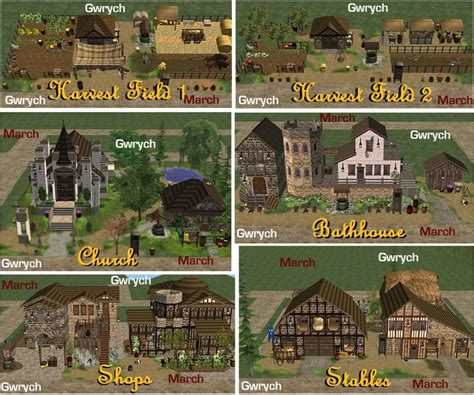 Mod The Sims Gwrych Medieval Mod The Sims Gwrych March Set Four 6 Community Lots