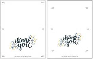 thank you note cards template freebie printable thank you card