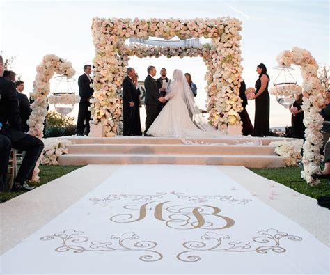 wedding aisle runner tradition wedding ceremony ideas flower covered wedding arch