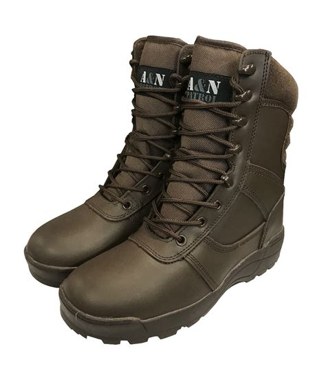 black patrol combat boots all leather cadet boots