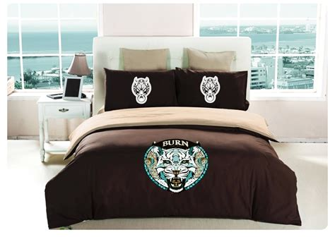white tiger bed set white tiger bedding set king size korean design 100 cotton bed sheets painting