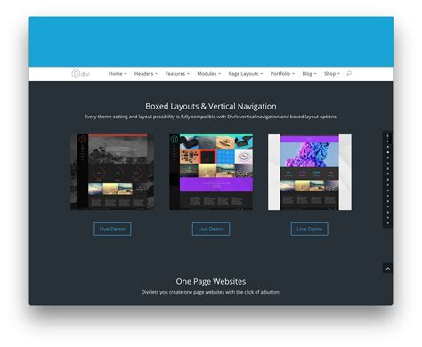 wordpress themes free vertical navigation divi theme by elegant themes 25 download v3 0 105