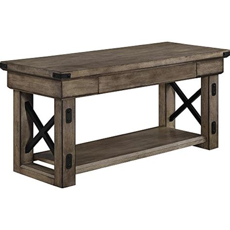 rustic entryway bench with storage altra wildwood wood veneer entryway bench rustic gray