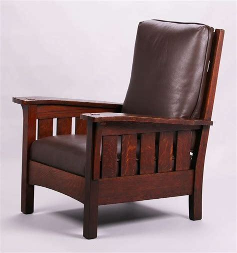 Stickley Armchair by Large L Jg Stickley Bentarm Armchair California