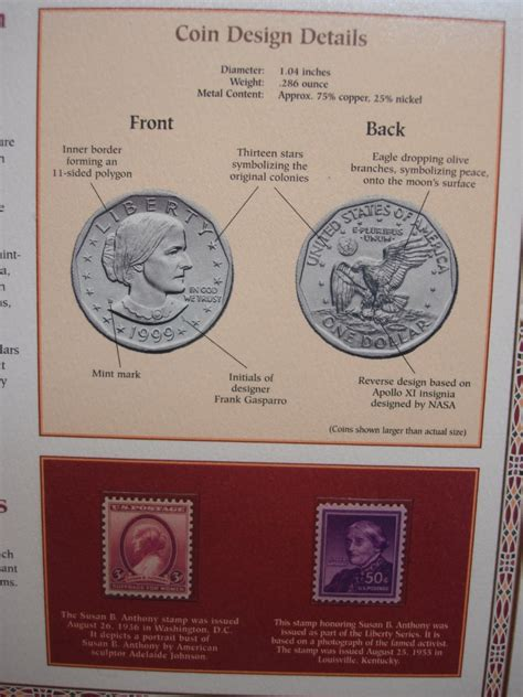 susan b anthony dollars 1979 1981 1999 mintage coin the susan b anthony u s dollar coin stamp collection