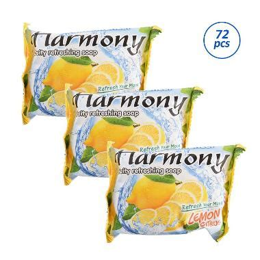Harmony Fruity Soap Lemon 70g jual harmony fruity refreshing soap lemon sabun batang 70