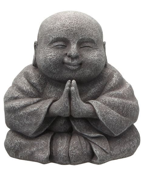 Happy Buddha Praying Happy Buddha Statue 8 Inches Buddha Groove