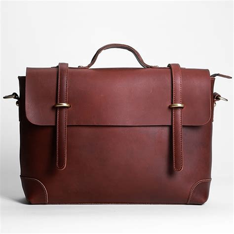 Handmade Laptop Cases - handmade vintage leather messenger bag leather briefcase