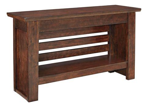 brown sofa table harpan reddish brown sofa table from t797 4