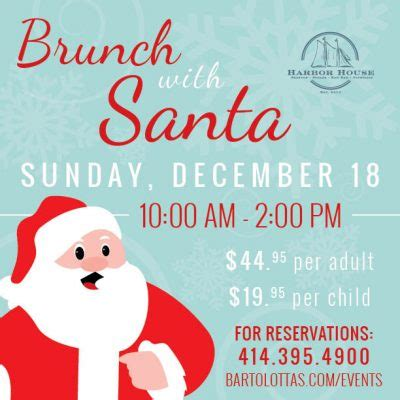 harbor house brunch brunch with santa at harbor house presented by harbor house milwaukee365 com