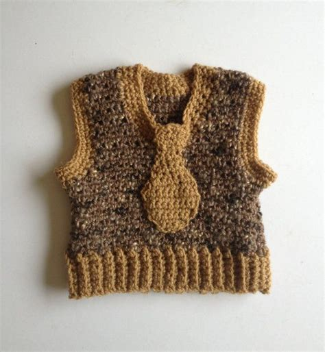 baby boy knitted vest 0 6 month brown beige baby boys toddlers crochet knit