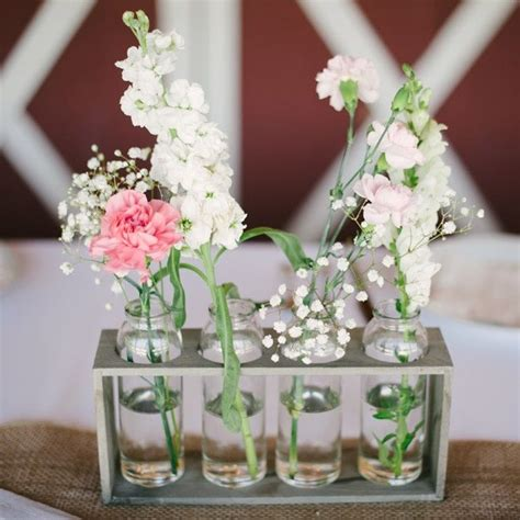 simple wooden bud vase holders centerpieces stephanie