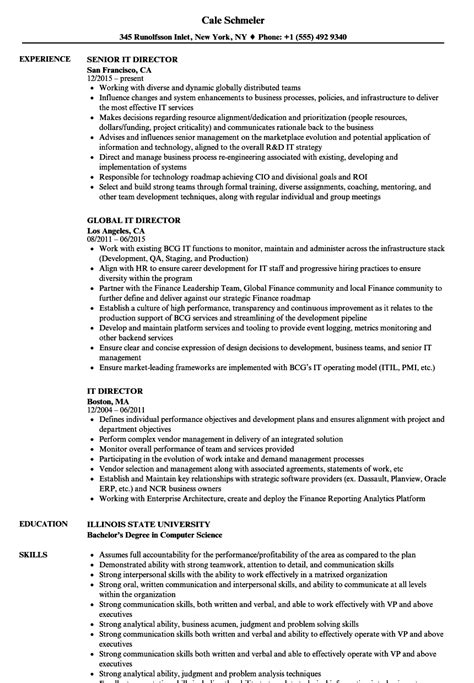 It Director Resume by It Director Resume Sles Velvet