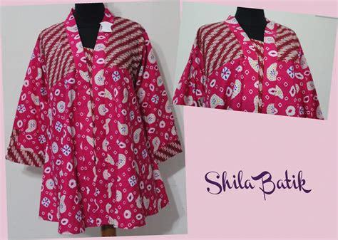 Model Baju Muslim Ukuran Jumbo blus batik jumbo pink model klok jual batik murah