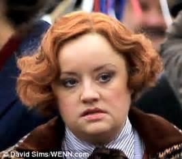who does lucy davis look like lucy davis sports unruly 1920s ginger pin curls on the