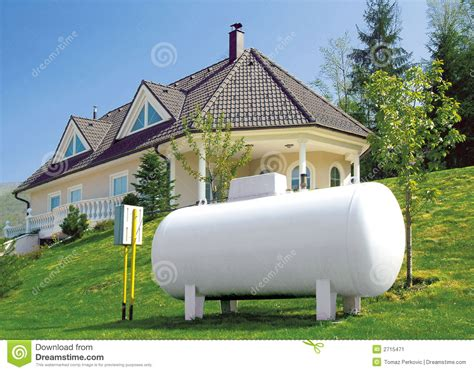 gas house house with a gas tank stock image image 2715471